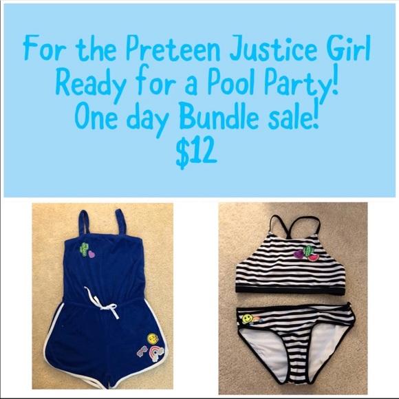 2e611cbe8 Justice Swim | Girls Bikini And Coverup Romper | Poshmark